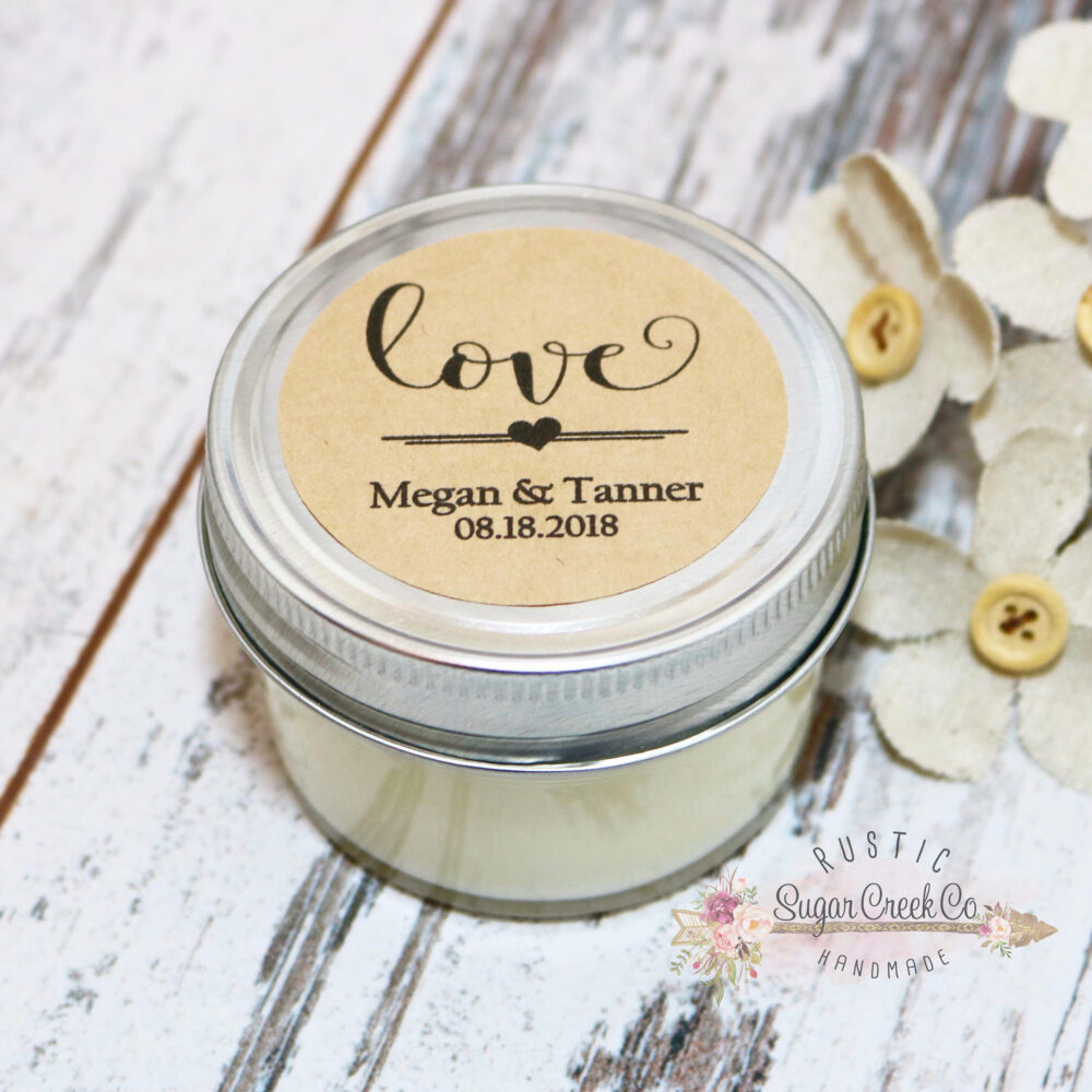 Set Of 12 - 4 Oz Soy Candle Wedding Favors, Candles, Favor Personalized Favor, Favors