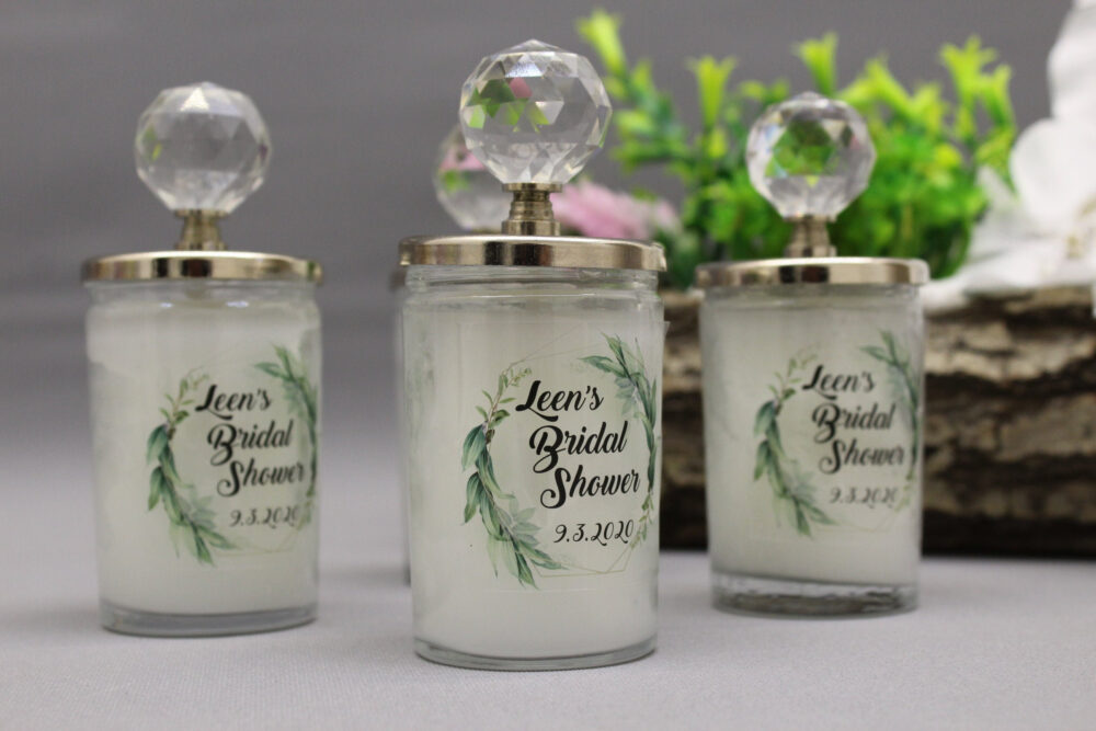 Candle Wedding Favors, Soy Wax Personalized Candles, Rustic Favor Bridal Shower Candles