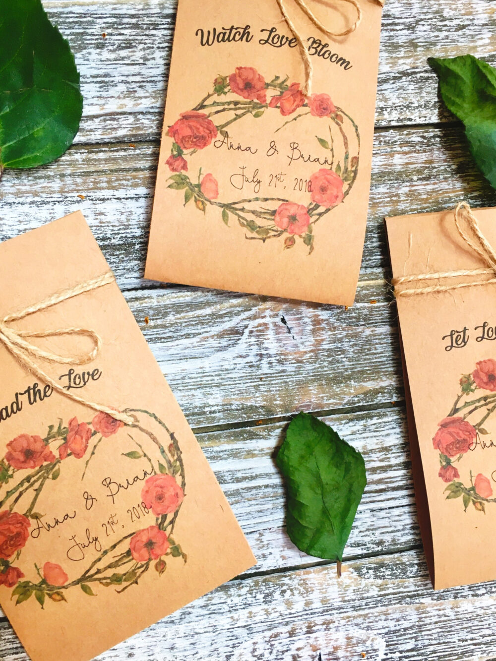 50 Flower Seed Favors - Blush Wedding Favors Seeds Included Favor Packets Personalized Custo
