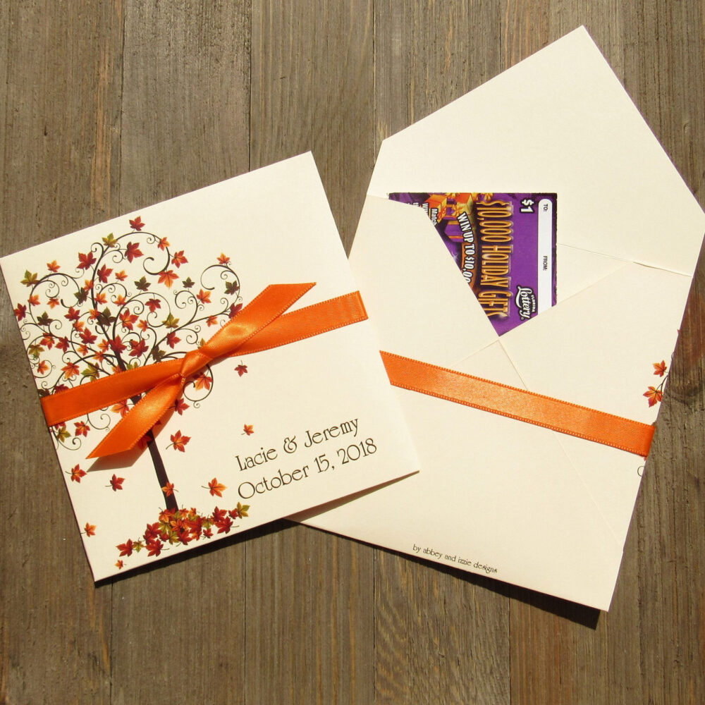 Fall Wedding Favors | For Lottery Ticket Holders Autumn