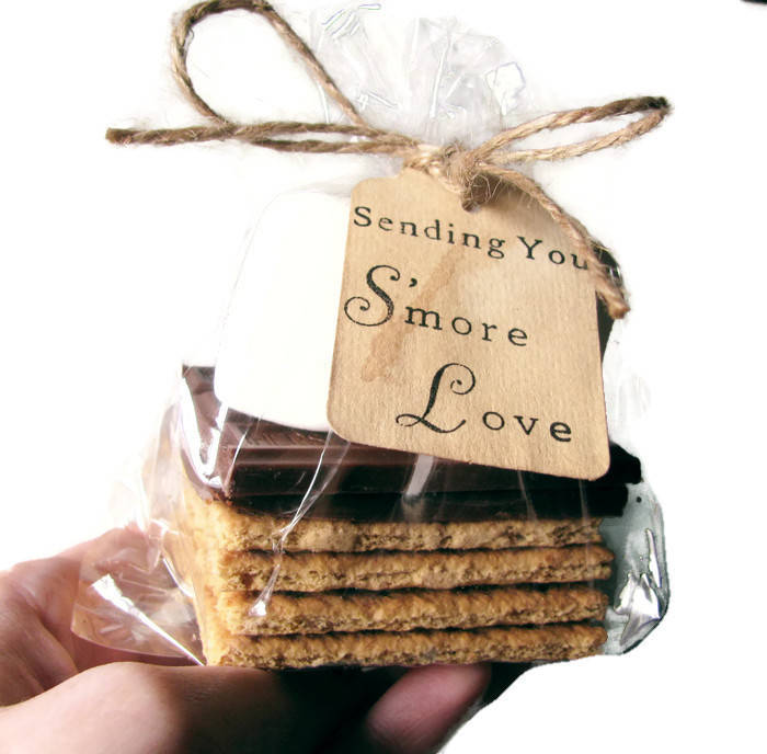Select Amount 25 - 300 Hand Stamped Stained Sending You S'more Love Tags. Summer Wedding Favors. Spring Wedding. Smores. Smore. Diy