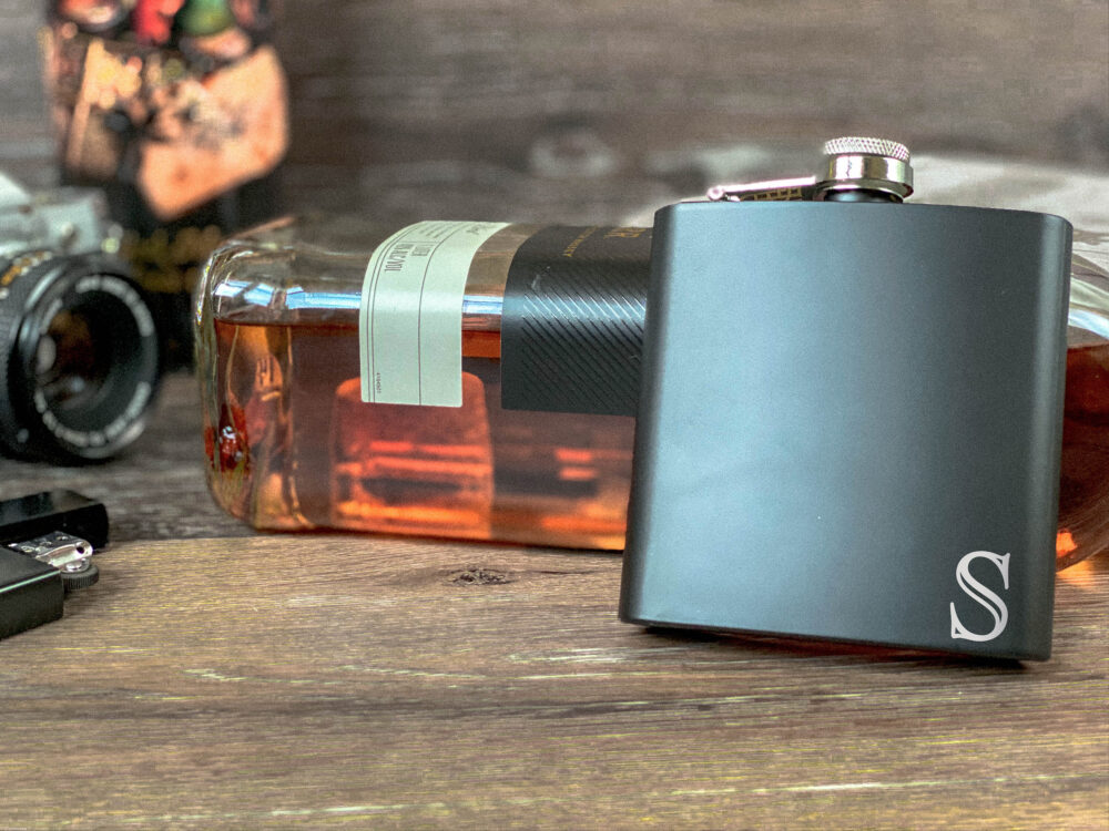 Wedding Gift For Men, Custom Flask, Party Gift, Him, Flask Personalized, Unique Boyfriend Mens Black