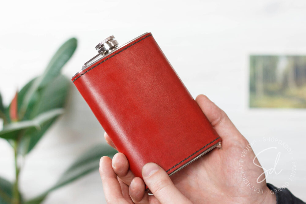 Wedding Flask, Personalized Flasks, Drinking Groomsmen Leather Engraved Mens Fathers Flask