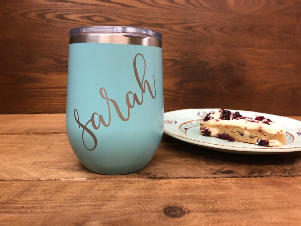 Wine Tumbler, Personalized Custom Travel Cup, Glass, Engraved Bachelorette 27402-Swg3-139