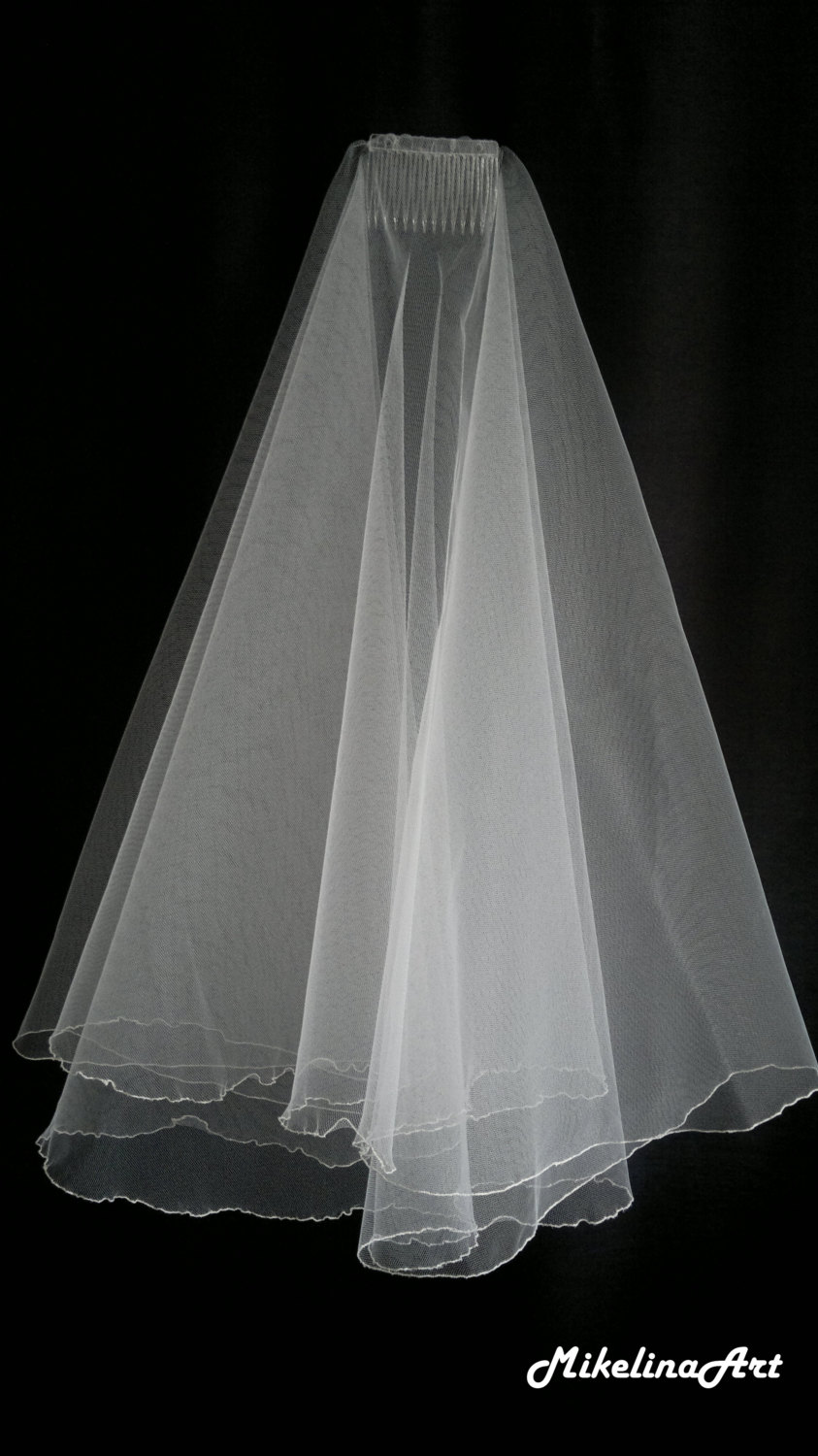 Ivory Wedding Veil, Two Layers