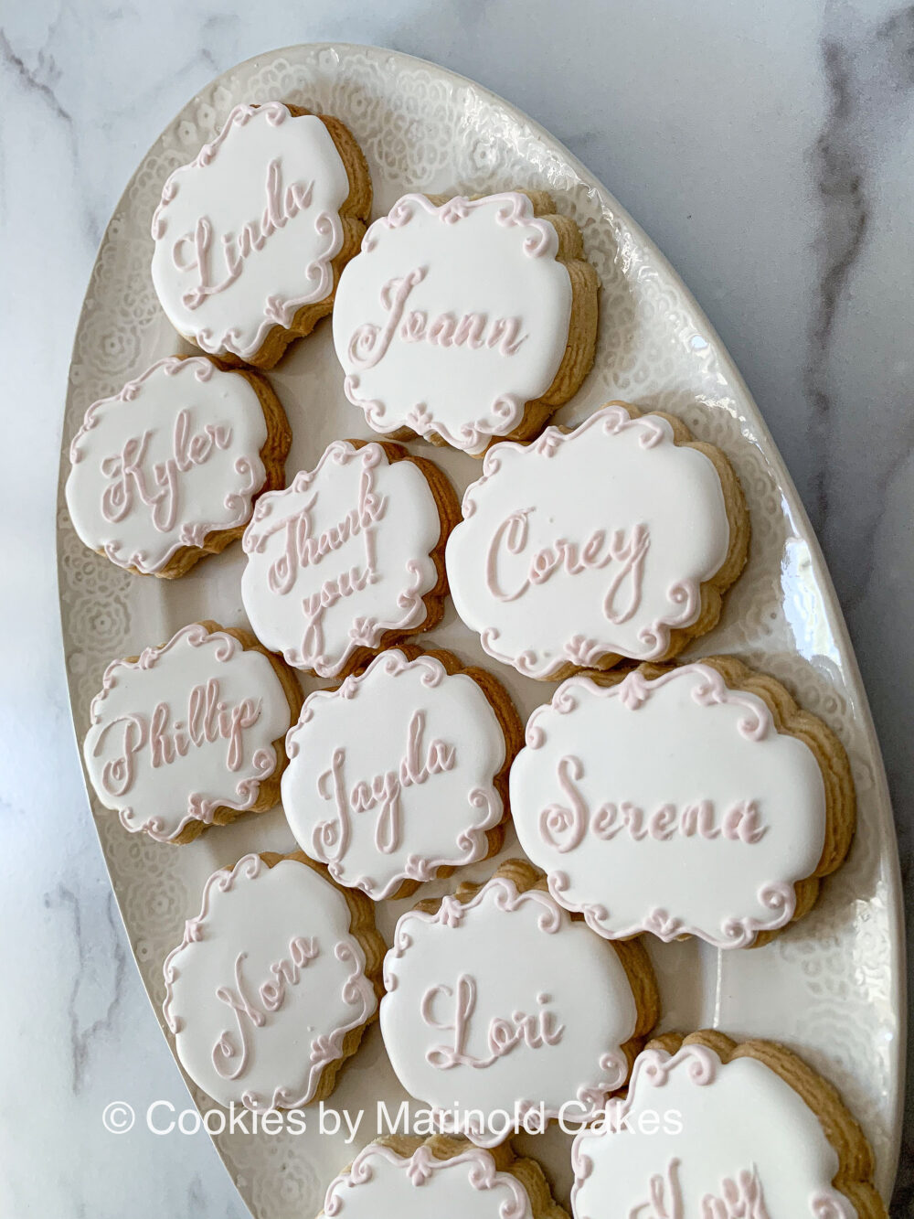 """Table Place Card Cookies - Dozen 3"""" Cookie Favors For Weddings, Showers, & Birthdays"""