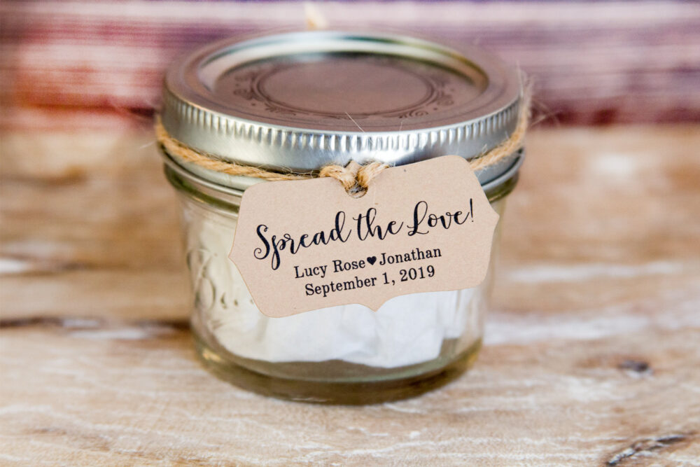 Spread The Love Tag - Wedding Favor Tags Jam Favors Marmalade Honey 2 X 1.1 In