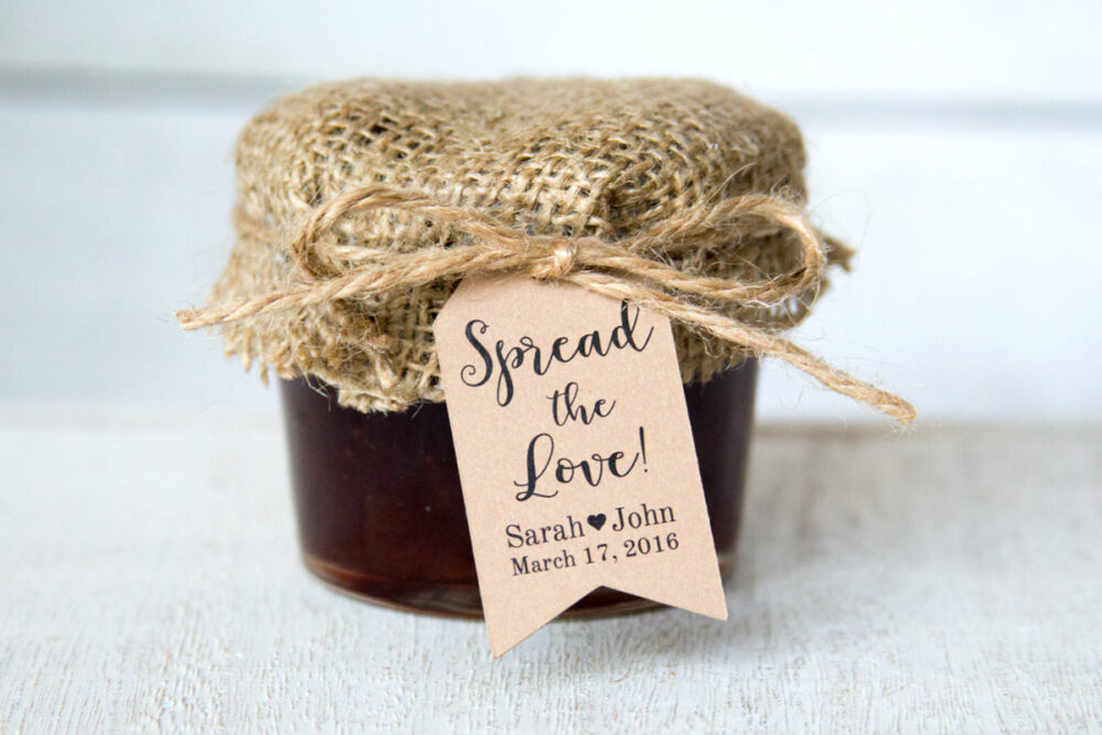 Spread The Love Tag - Wedding Favor Tags Jam Favors Marmalade Honey Small