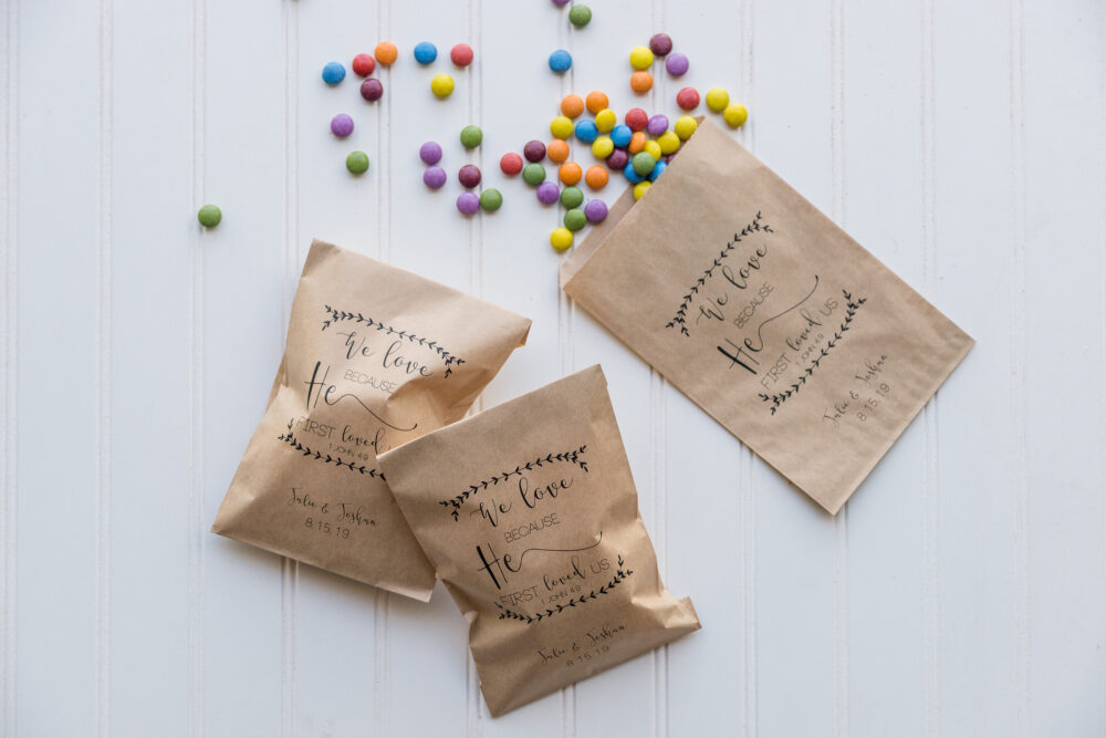 Wedding Favor Bags, Popcorn Donut Coffee Favor, Candy Buffet, Party Favors, Rehearsal Dinner Favors