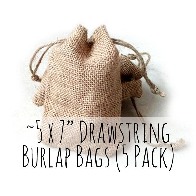 "4.5"" X 7.75"" Natural Burlap Drawstring Bag, Rustic Pouch, Satchet, For Soap Packaging, Wedding Favors, Craft Supplies, Diy"
