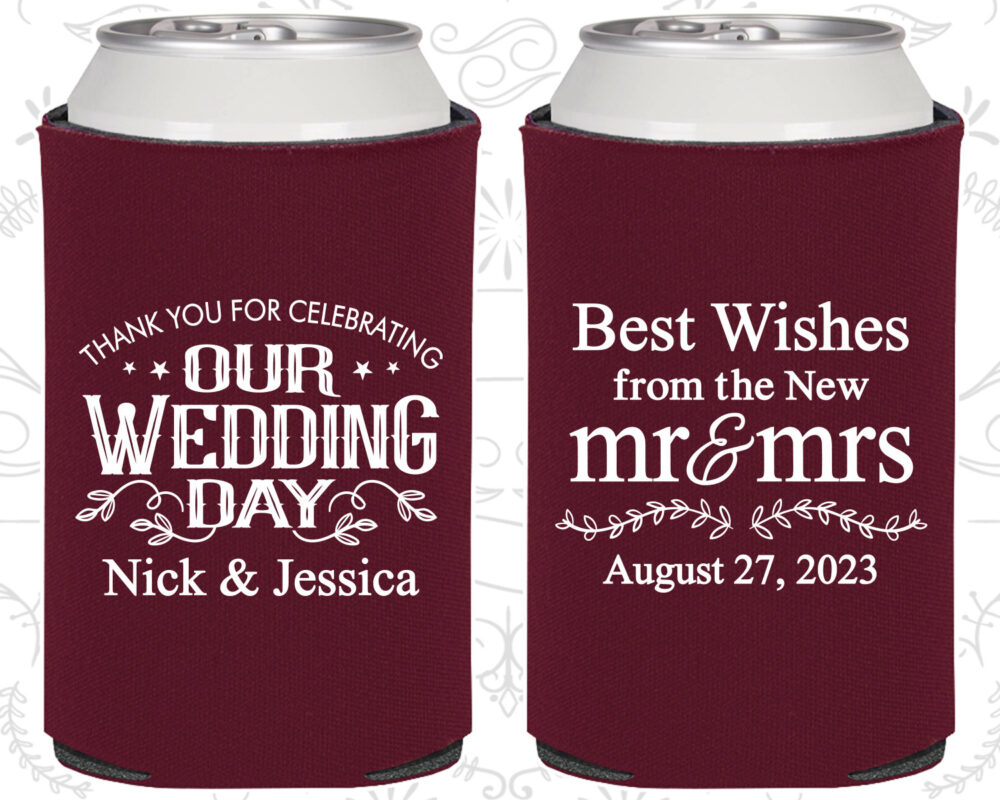 Our Wedding Day, Custom Favors, Best Wishes From The New Mr & Mrs, Mrs Wedding, Vintage | 550