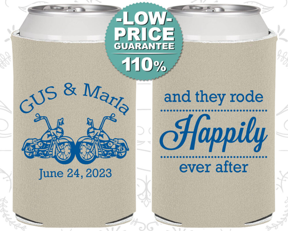 Custom Wedding Favors, Personalized Can Coolers, Rehearsal Favor, Unique Guest Favors | C200