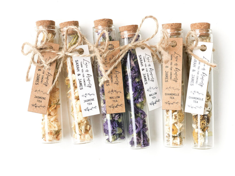 30 Pcs Wedding Tea Favors For Guests, Bulk Test Tube, Rustic Wedding Favor, Personalized Favors, Custom Bonbonniere, Shower Thank You