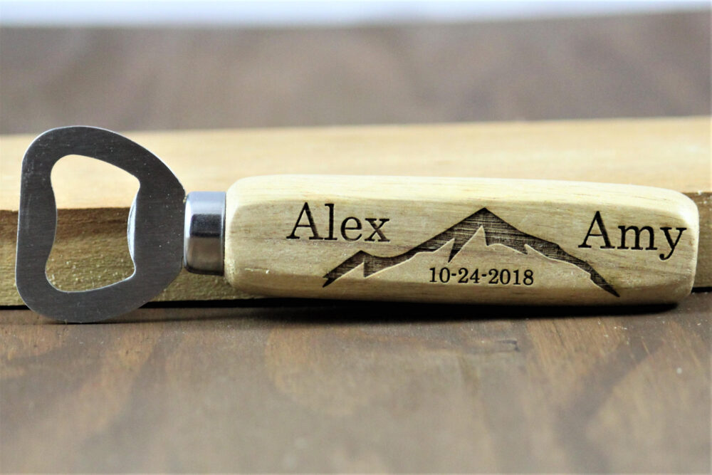 Mountain Wedding Favors For Guests, Outdoor Favors, Bottle Opener Engraved Openers, Personalized Opene