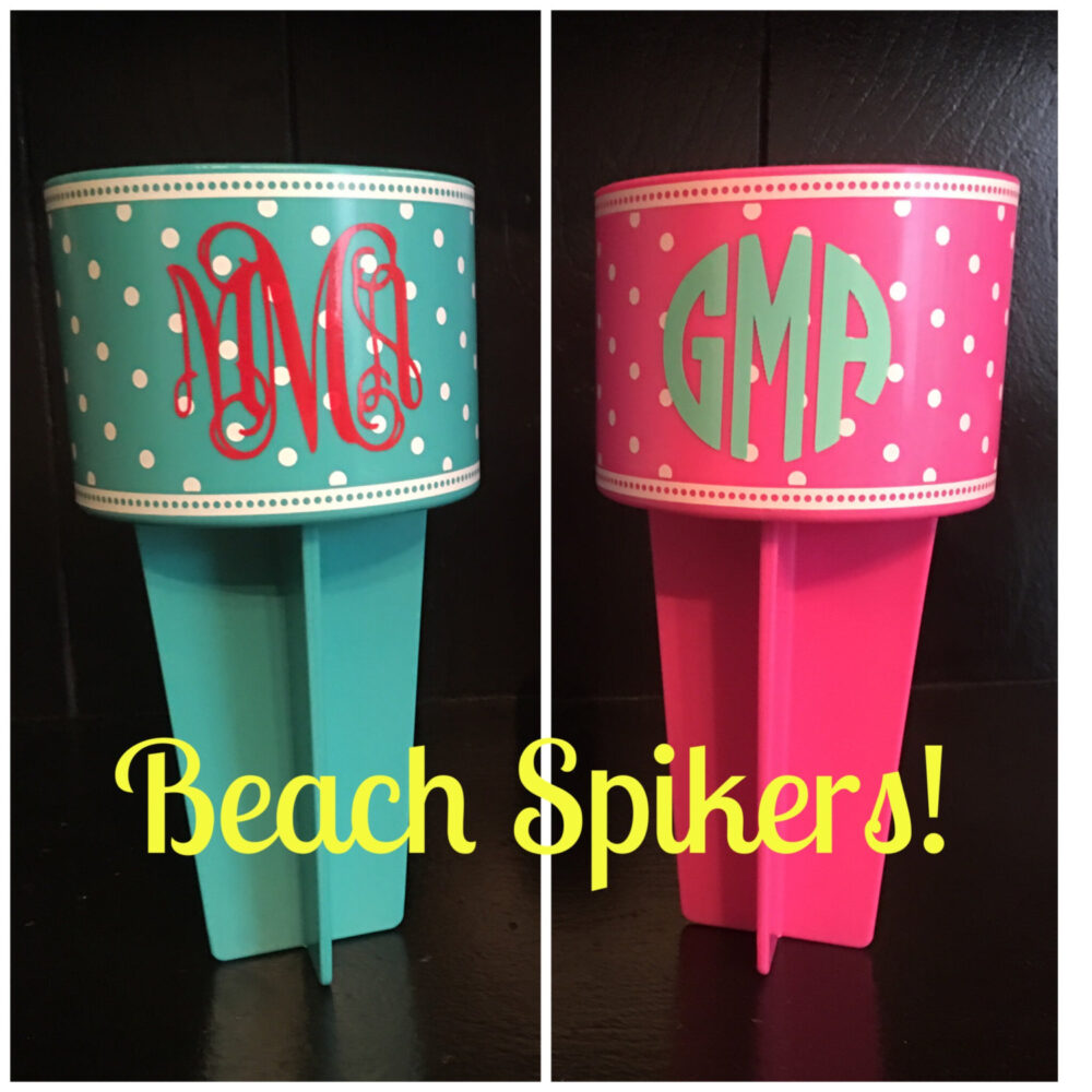 Personalized Beach Spiker - Nik Cell Phone Holder Sunglass Destination Wedding Accessories Mother's Day