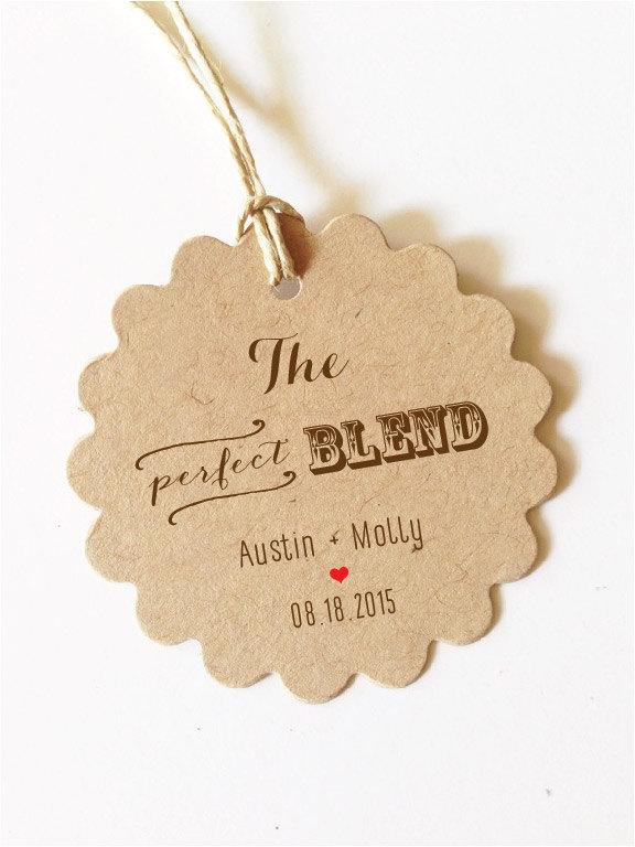 The Perfect Blend Tag Perfect Blend Wedding Favor Tags Wedding Coffee Favor Tag Gift 15+ Kraft/White