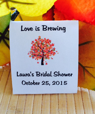 Fall Bridal Shower Tea Favors, Party, Party Favors