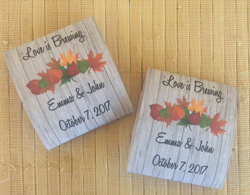 Fall Tea Favors, Packets, Bridal Shower Party, Fall Shower, Wedding Leaves Favors