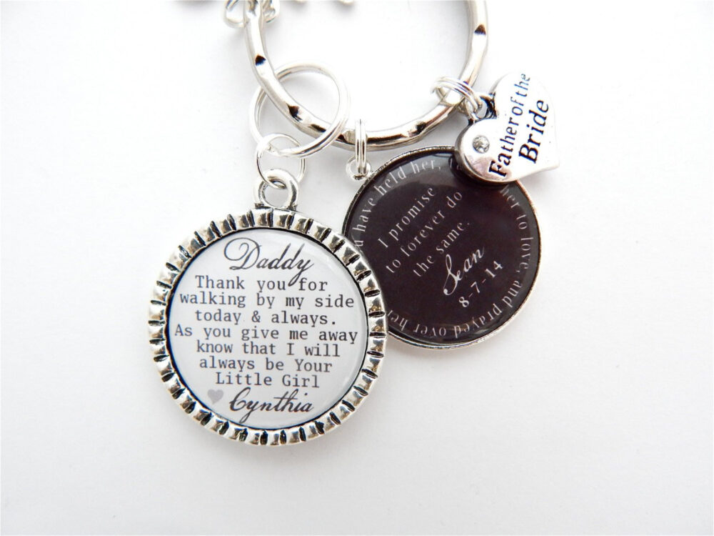 Father Of The Bride Gift-Dad Wedding Gift-Father Bride Gift Box-Personalized Keychain For Father Box Stuffer-Father Groom