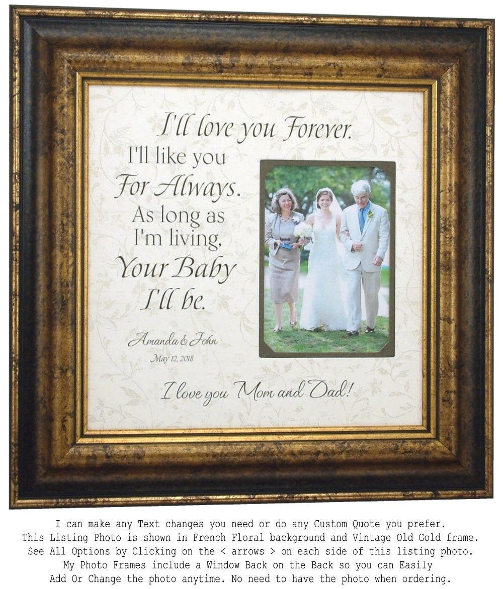 Wedding Gift For Parents Mother Of The Bride & Father Bride, Personalized Photo Frames By Photoframeoriginals