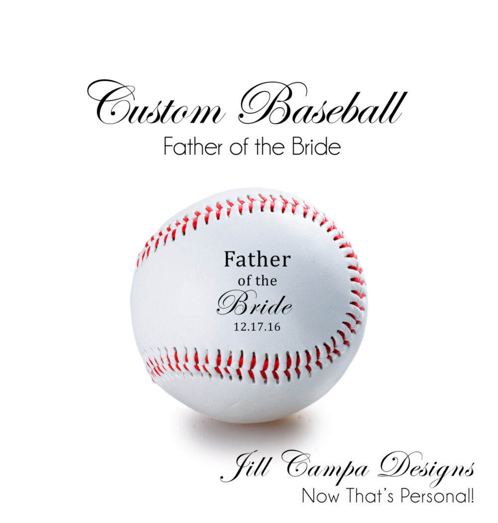 Father Of The Bride, Personalized Baseball - Father Bride Gift, Custom Baseball, Personalized Wedding Baseball