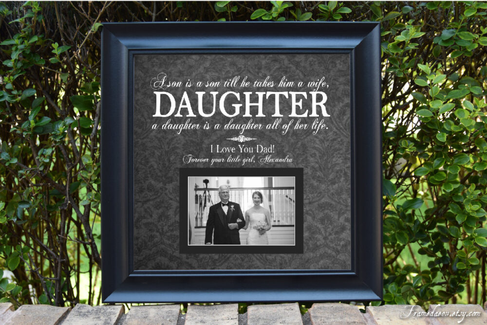 Father Of The Bride-Father Bride Gift-Father Frame-Parents Bride-Parents Thank You Gift Wedding-Dad Wedding-15x15