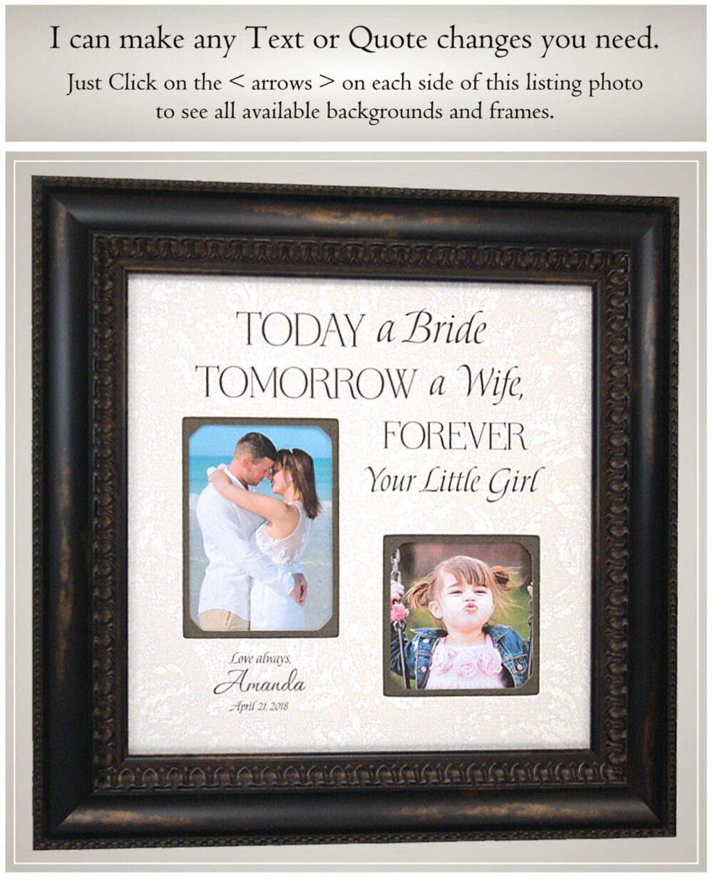 Gift For Father Of The Bride Wedding Gift Dad, Today A Bride, Father Bride From Bride