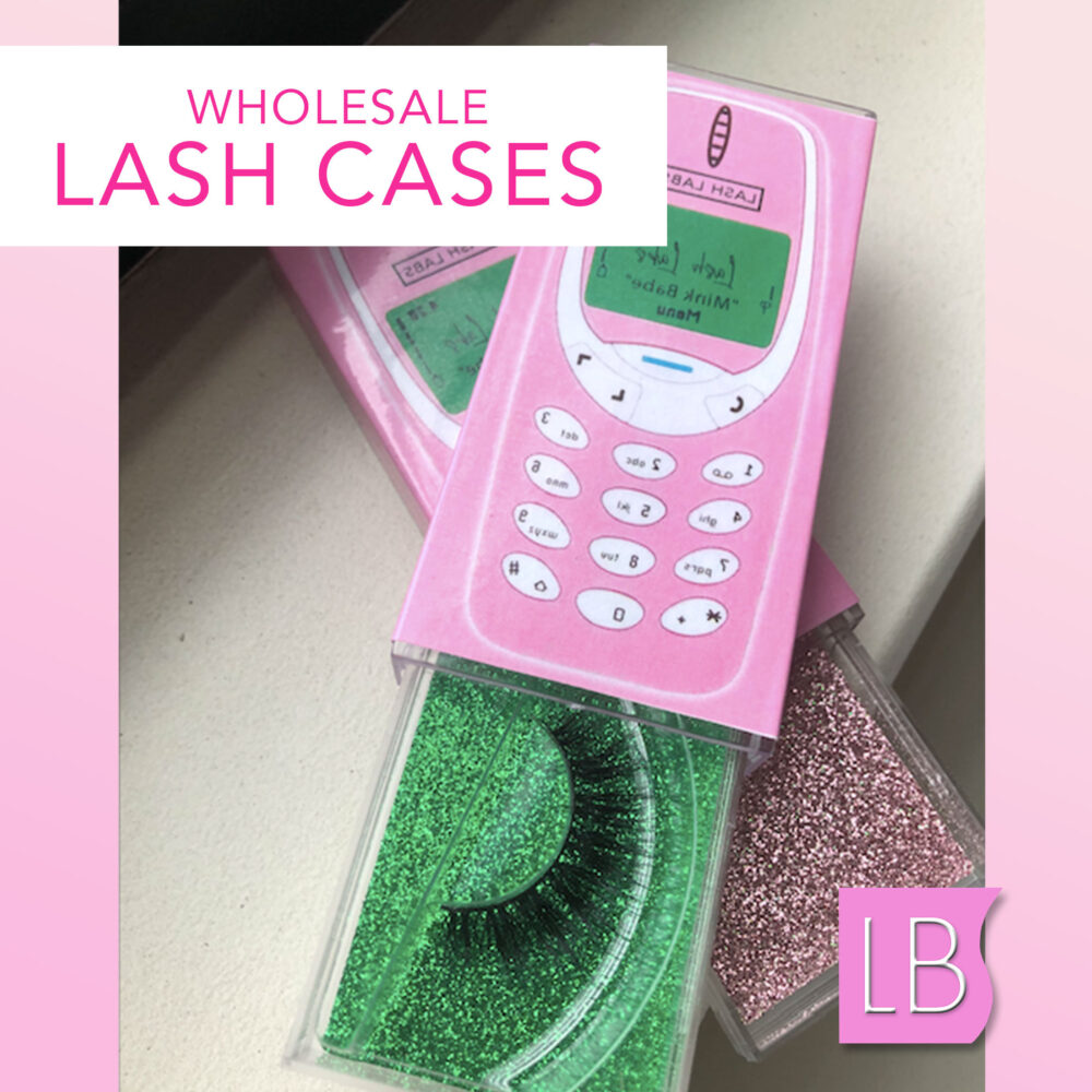 Lash Cases For Mink Eyelash Line, Cell Phone Case Wholesale With Plastic Tray Custom Line