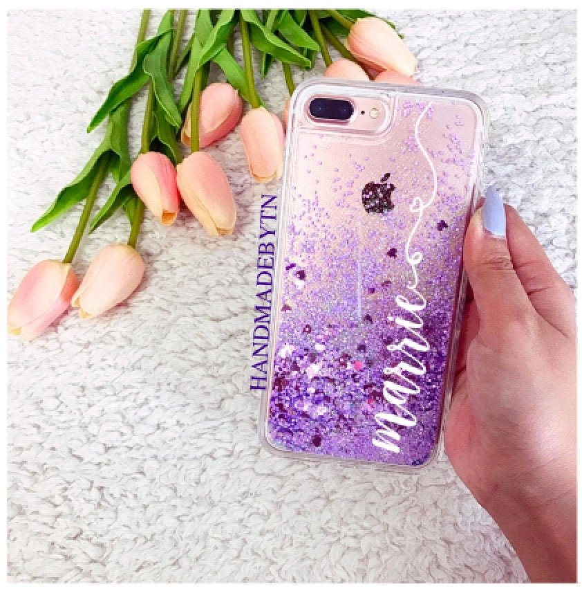 Purple Glitter Ipod Case Phone Touch 6 Case 5 Touch 7 Gift For Daughter, Birthday Gift, Christmas