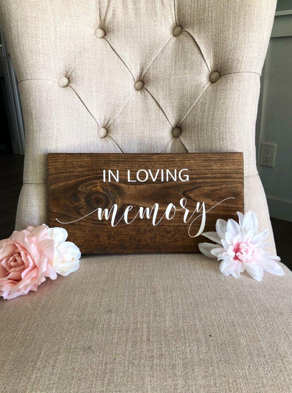 In Loving Memory Sign | Wedding Decorations