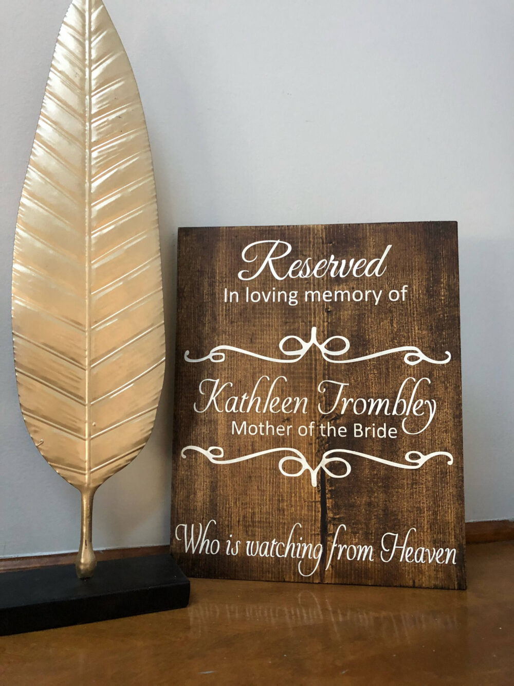 Reserved Sign | Memory Table Watching From Heaven Wedding Decorations Memorial For Weddings