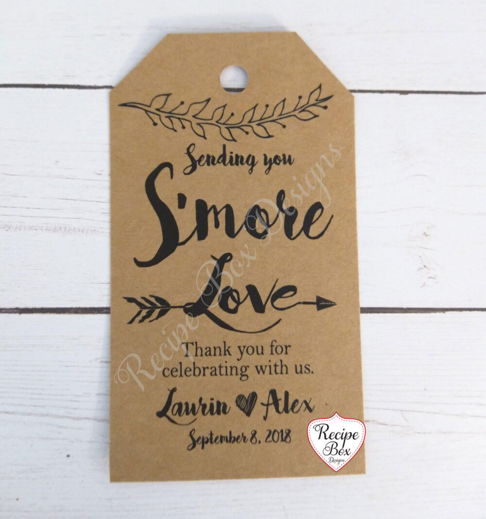 S'mores, S'mores Favor Tags, Wedding Baby Shower, Smores, Smore Tag Favors, Boho Rustic Theme Tags Only