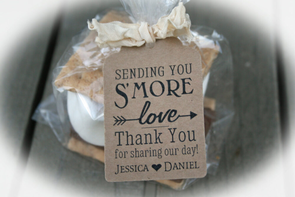 Wedding Favor // Smore Tags Favors - Available 3 Tag Colors- Baglg