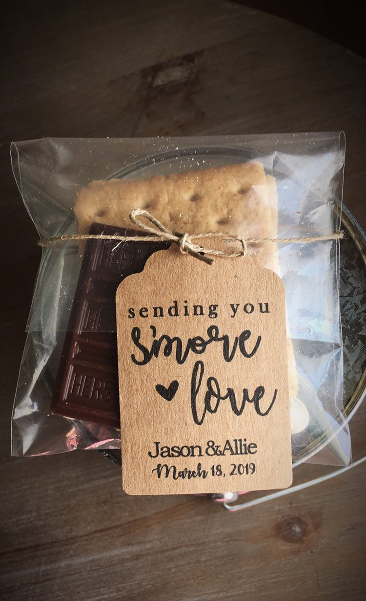 Sending You Smore Love • Favor Tags For Weddings, Bridal Showers, Baby Showers | S'more Themed Party Favor Smore