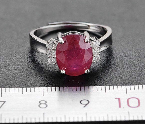 Ruby Engagement Ring, Natural Ring, 925 Sterling Silver Ring, Beautiful Gift For Women, Ruby Jewelry, Gift Her, Anniversary Gift, Jewelry