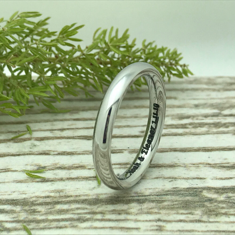 3mm Titanium Wedding Band, Personalized Ring, Skinny Promise Purity Gift For Her, Gift For Him, Anniversary Ring