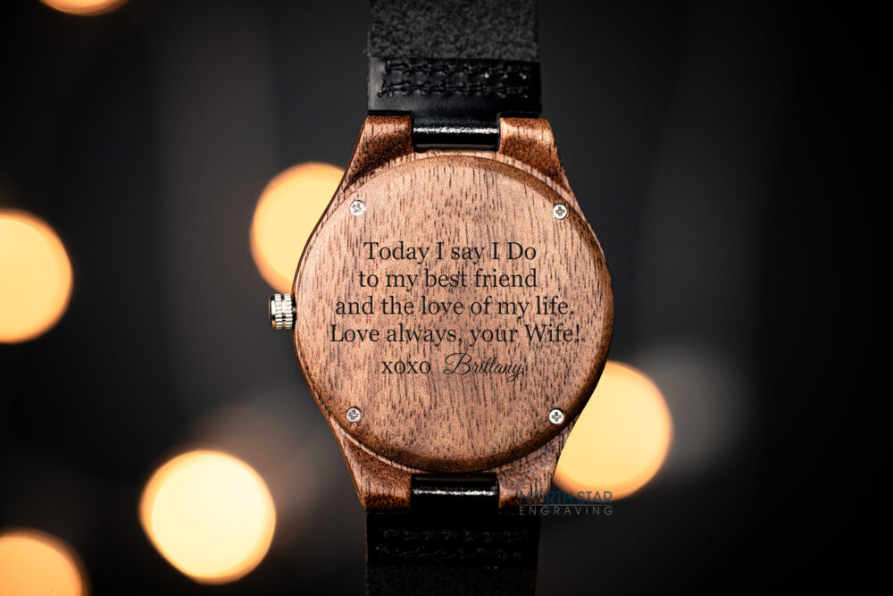 Groom Gift From Bride On Wedding Day, Personalized Watches For Men, Mens Engraved, Husband Day Gift, Mens Personalized