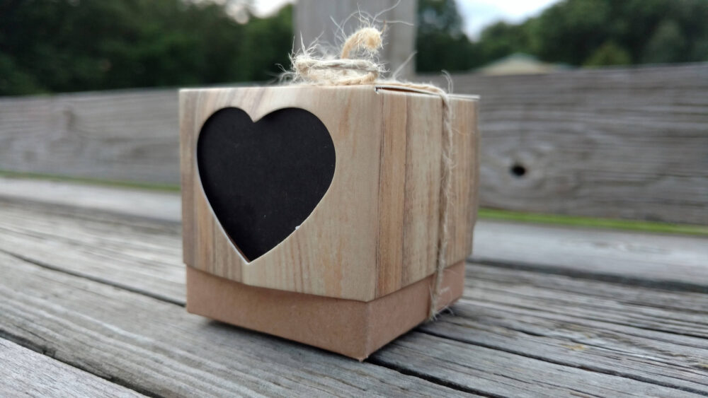Rustic Wedding Favor Boxes, Country Party Candy Box, Bridal Shower Free Burlap Twine