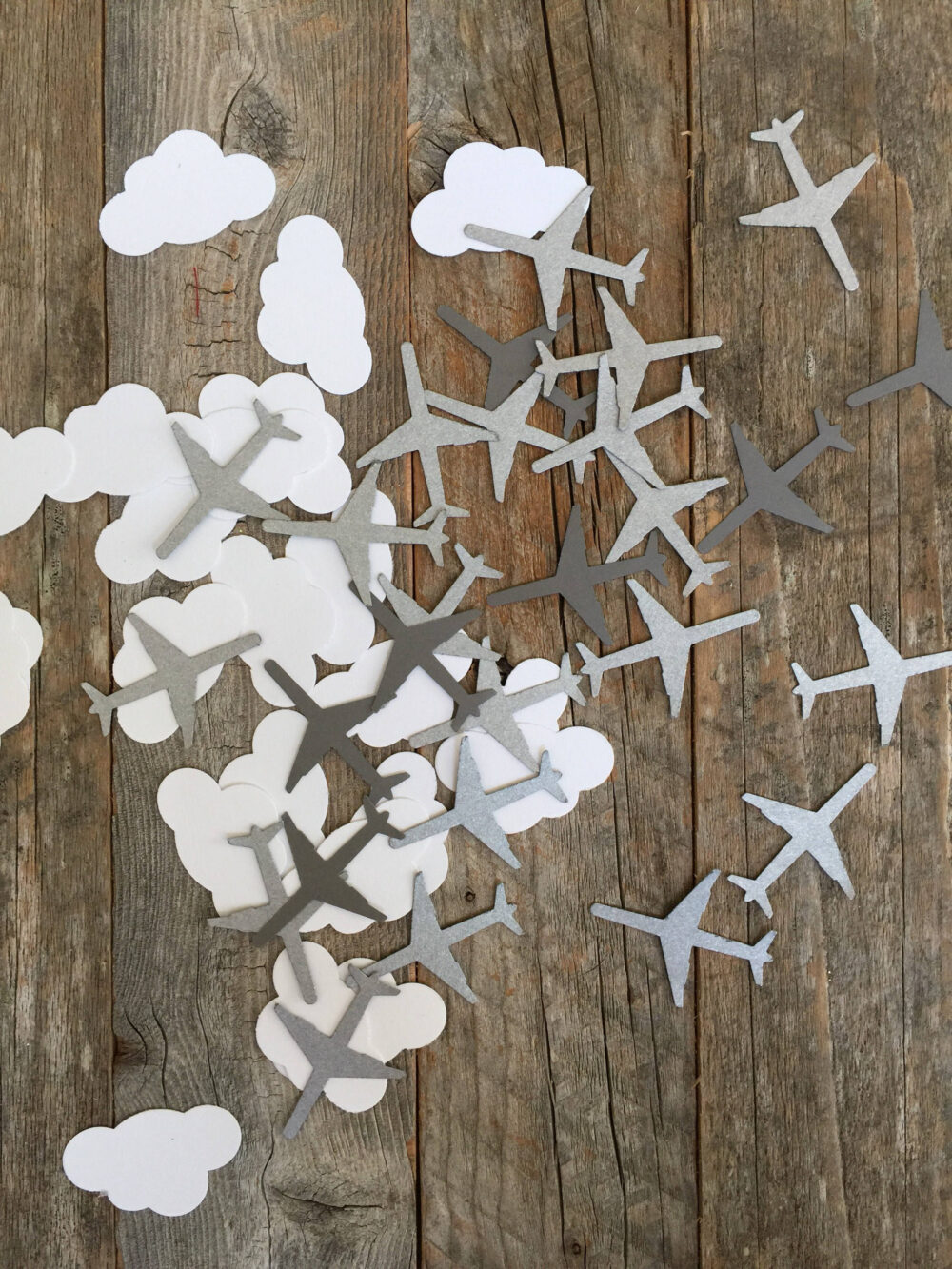 100 Airplanes & Clouds Table Scatter Confetti For Aviation Themed Weddings Parties Birthday Now Pieces