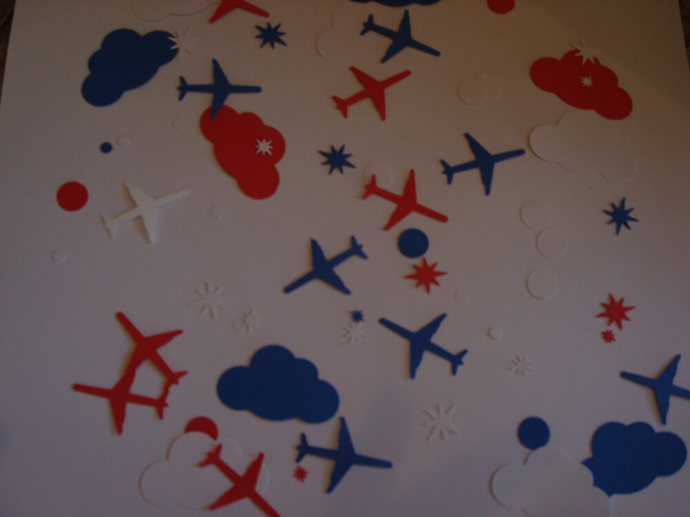 Transportation Baby Shower Confetti; Airplane Decor; Bon Voyage Party Table Scatter; Confetti; Up & Away