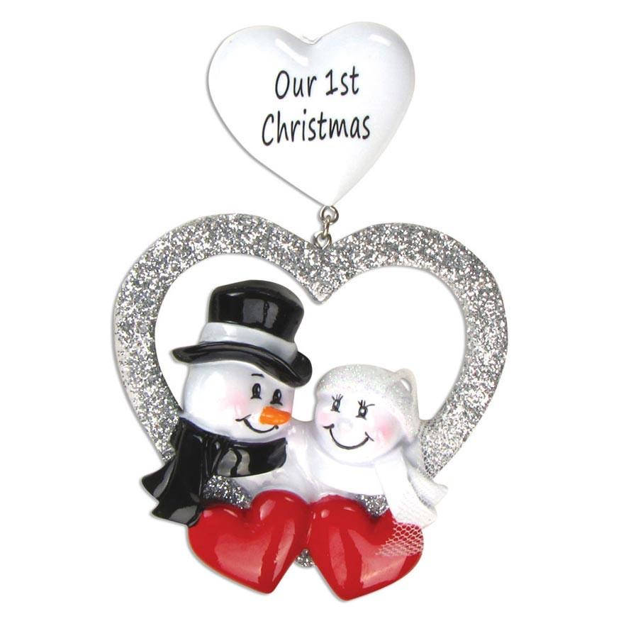 Personalized Wedding Ornament, Our First Christmas Married, Favor Bride & Groom 2020 Gift