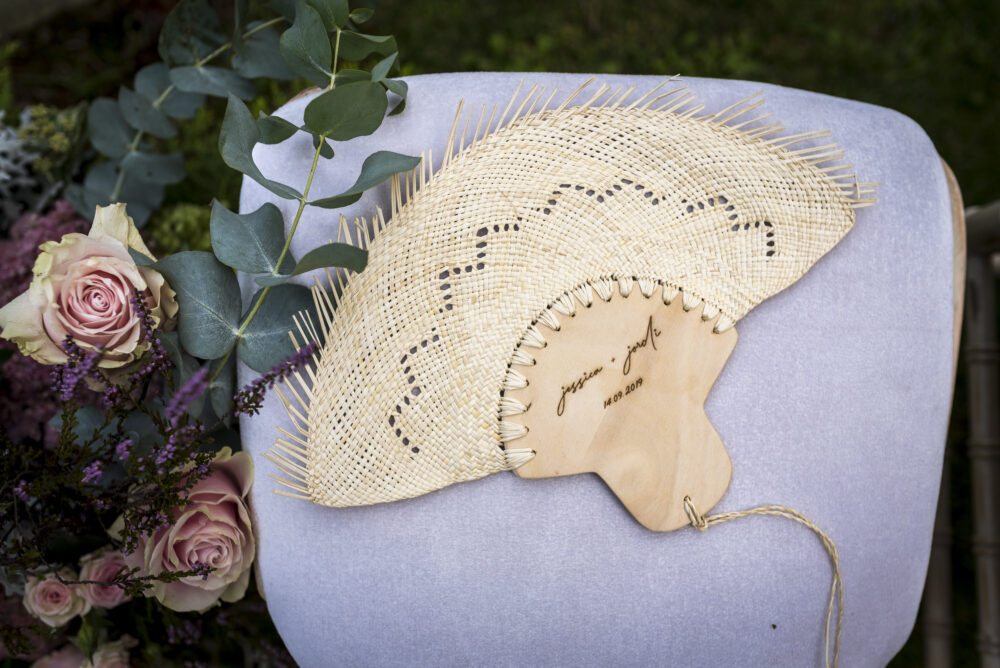 Wedding Fans/Custom Hand Fan For Mexican Wedding Personalized Woven Palm Leaf Favors