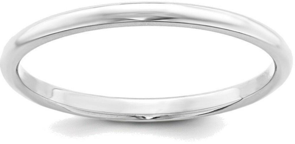 sterling Silver Band, Plain Wedding Ring, Promise His Hers, Simple Half Dome Band