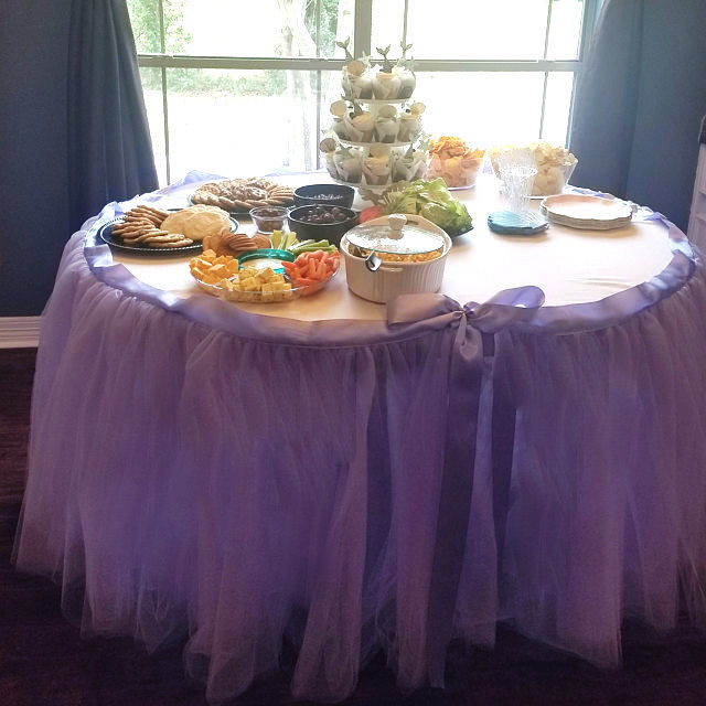 14Ft Banquet Tulle Tutu Table Skirt Wedding Baby Shower 1st Birthday Party Supplies Ballerina-Inspired Parties Bridal Quinceañeras +Colors