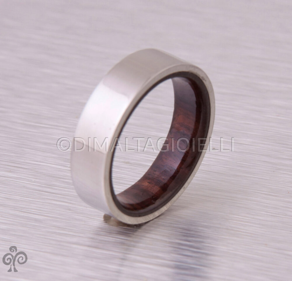 Wood Ring Titanium Band Wedding Woman Man Jewelry Engagement Cocobolo