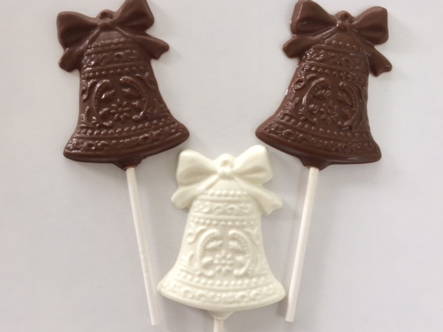 Wedding Bells Chocolate Lollipops | 12 Qty Wedding Favor/Bridal Shower/Anniversary Favor/Wedding Dessert Table/Wedding Reception Favor