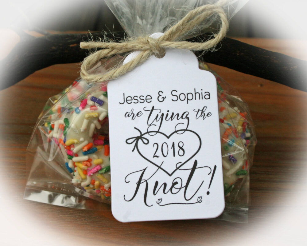 Tying The Knot Favor | Engagement Party Pretzel Rehearsal | Pretzels Not Included - Tags Only Or Diy Kits