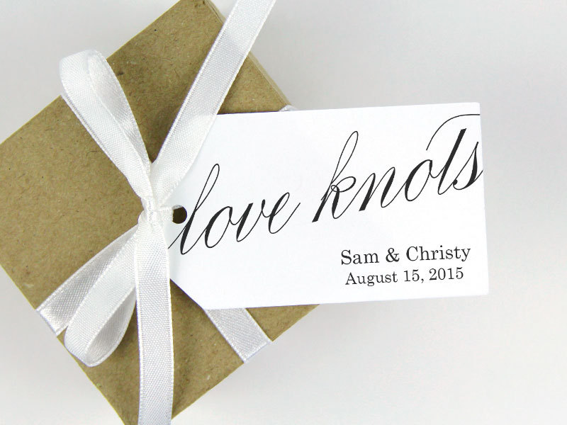 Love Knots - Wedding Favor Tag Pretzel Favors Ideas Custom Tags Party Large