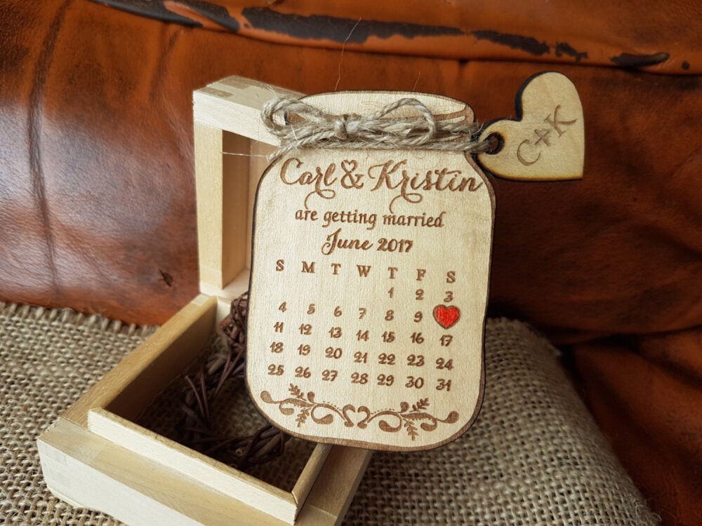 Mason Jar Save The Date Magnets, Magnet, Custom The Wedding Wooden Save Date Magnet Jar, Rustic Magnet