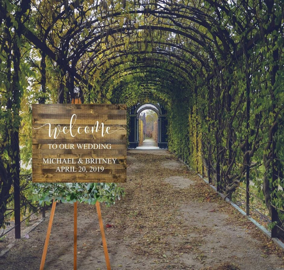 Welcome Signs | To Our Forever Sign Wedding Aisle Here Comes The Bride Country